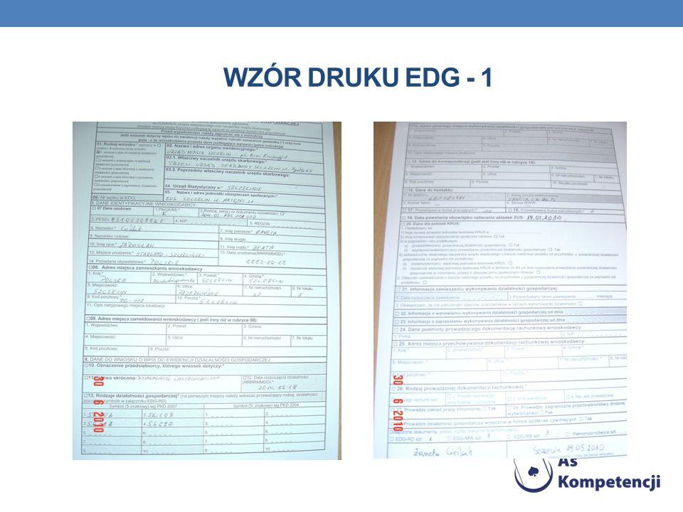 Wzór druku EDG - 1