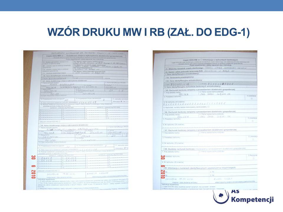 Wzór druku MW i RB (zał. Do EDG-1)