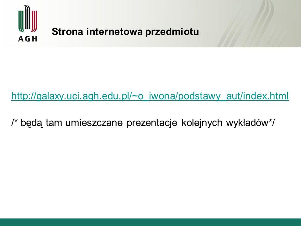 Strona internetowa przedmiotu