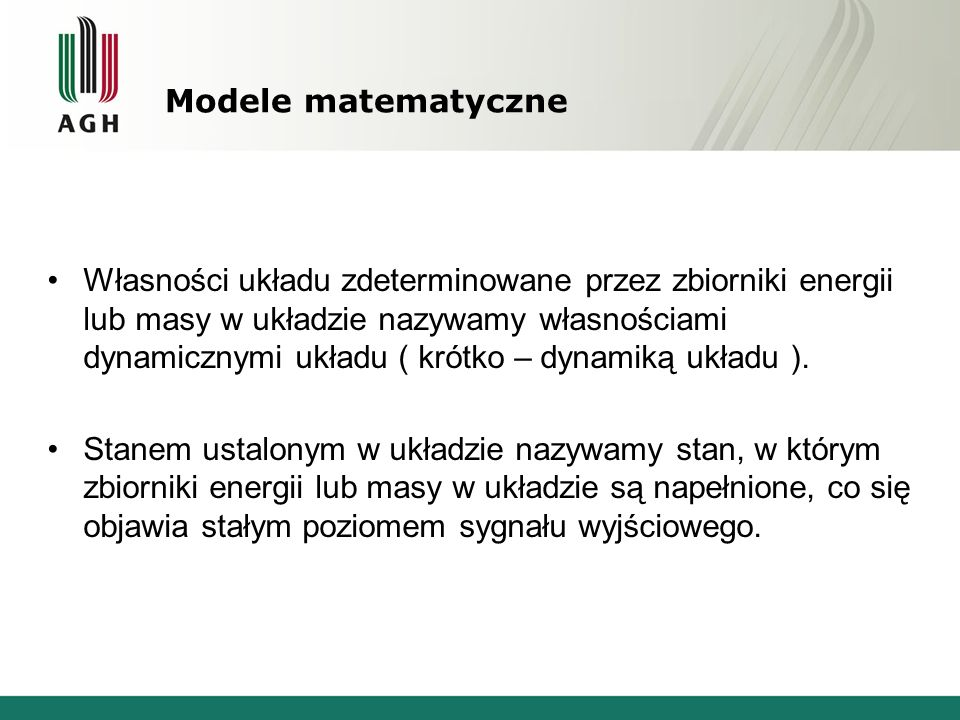 Modele matematyczne