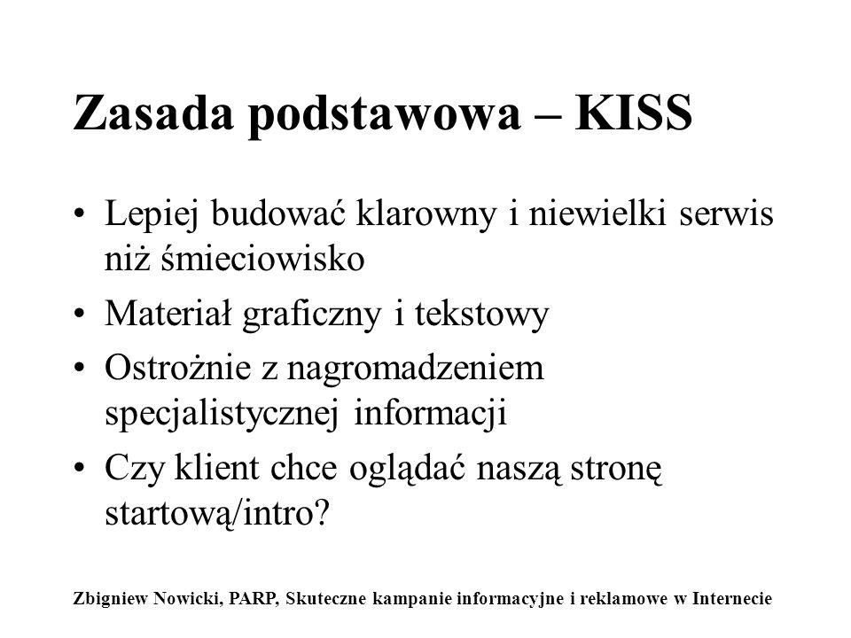 Zasada podstawowa – KISS