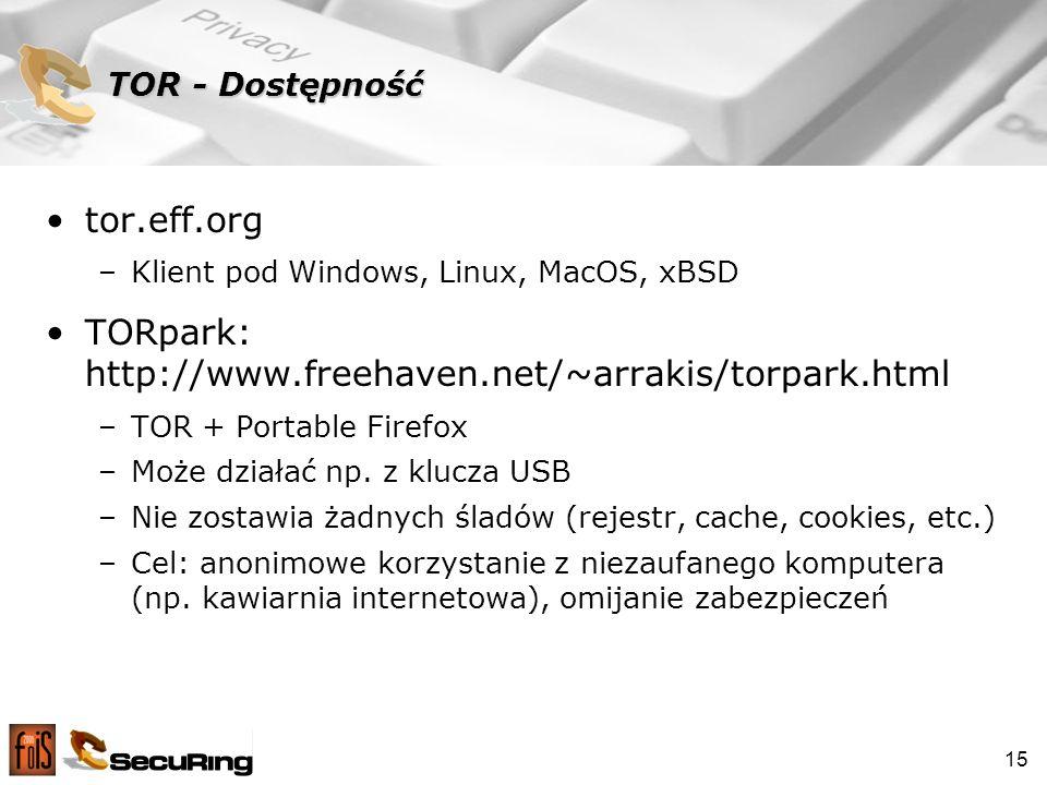TORpark: http://www.freehaven.net/~arrakis/torpark.html