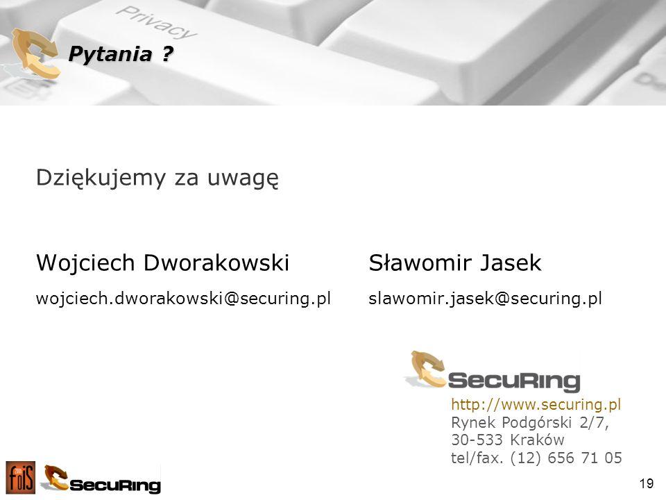 Wojciech Dworakowski Sławomir Jasek