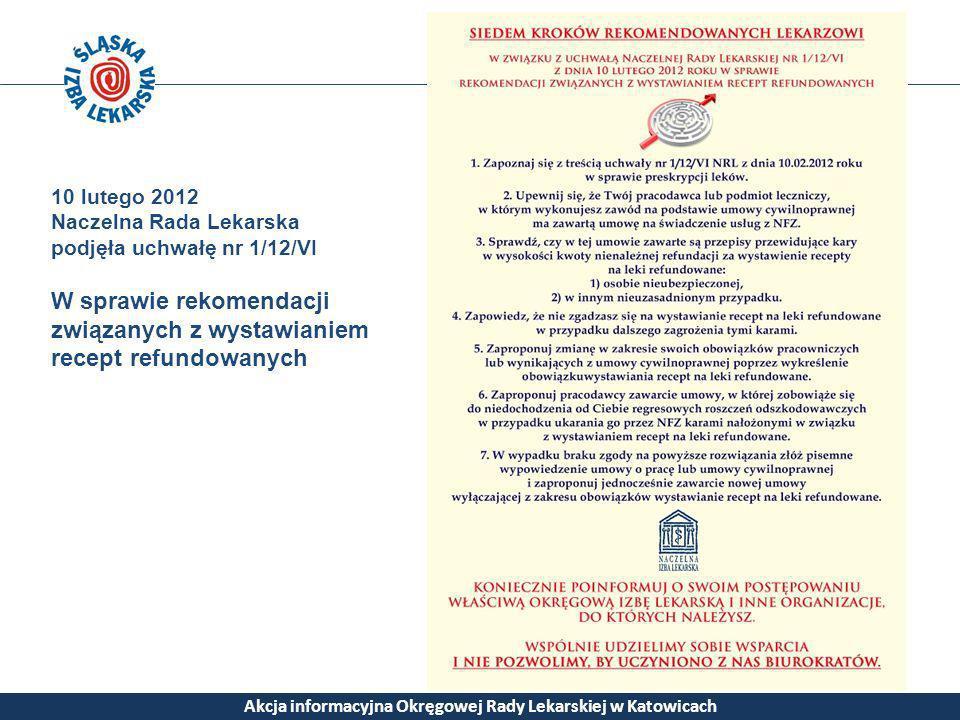 Akcja informacyjna Okręgowej Rady Lekarskiej w Katowicach