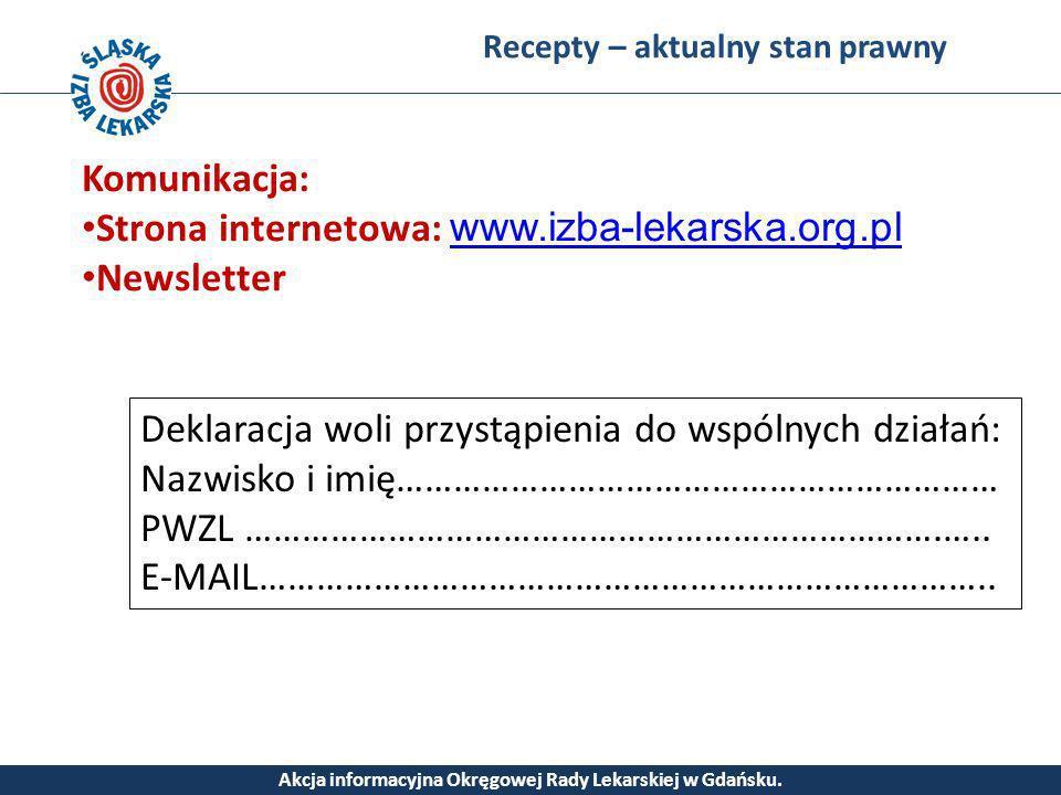 Akcja informacyjna Okręgowej Rady Lekarskiej w Gdańsku.