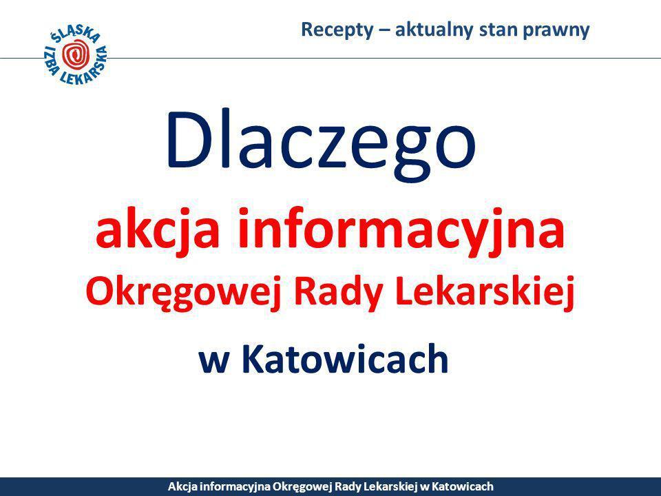 Dlaczego akcja informacyjna Okręgowej Rady Lekarskiej w Katowicach