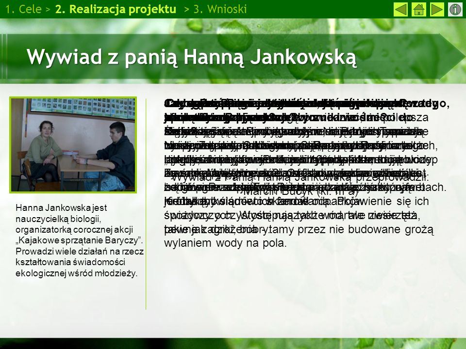 Wywiad z panią Hanną Jankowską