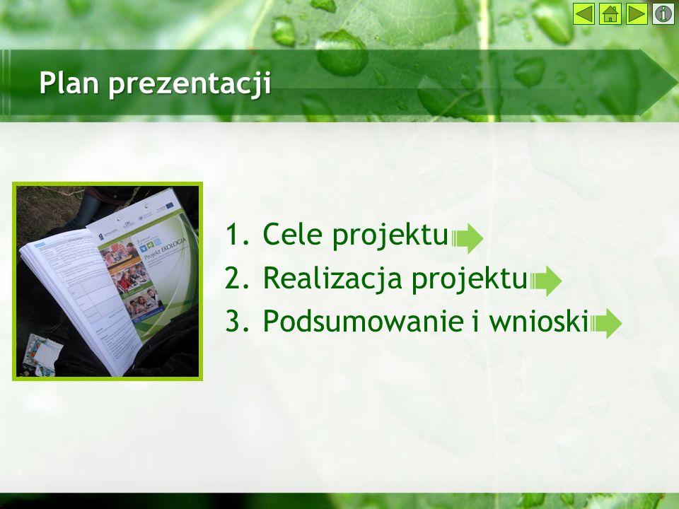 Plan prezentacji Cele projektu Realizacja projektu Podsumowanie i wnioski