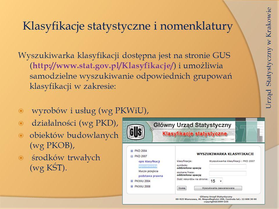 Klasyfikacje statystyczne i nomenklatury