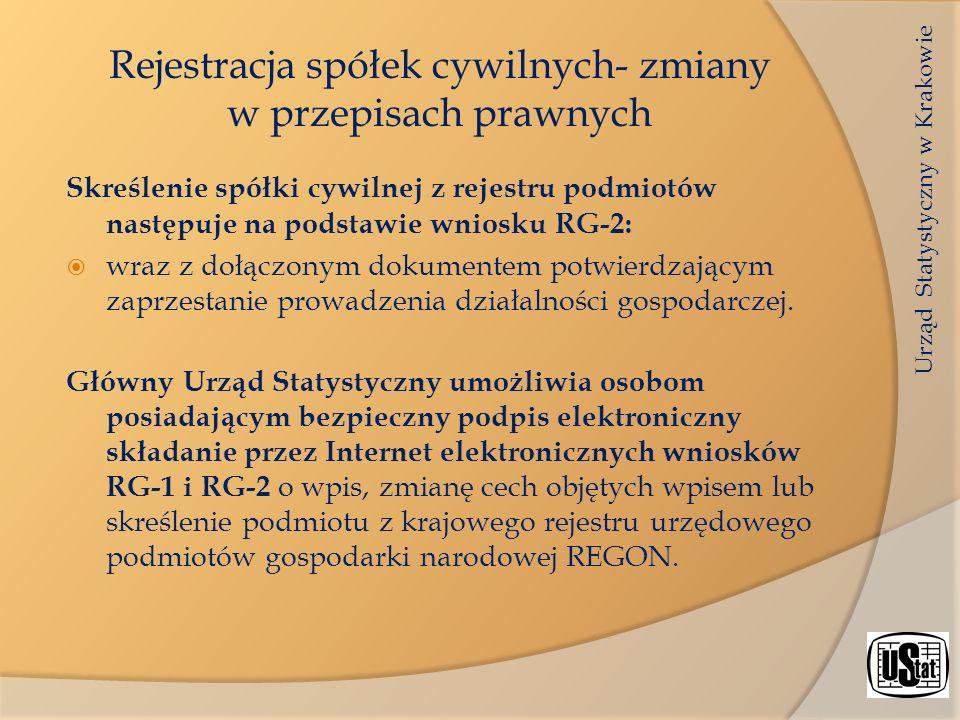 Rejestracja spółek cywilnych- zmiany w przepisach prawnych