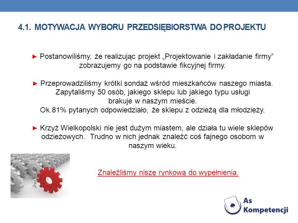 4.1. Motywacja wyboru przedsiębiorstwa do projektu