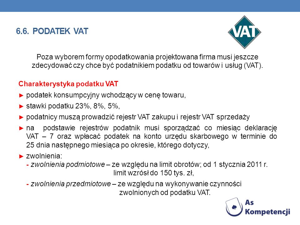 6.6. podatek VAT
