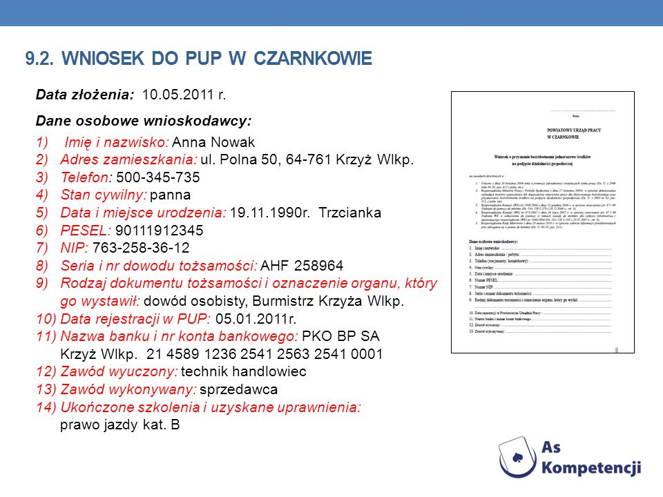 9.2. wniosek do pup w Czarnkowie