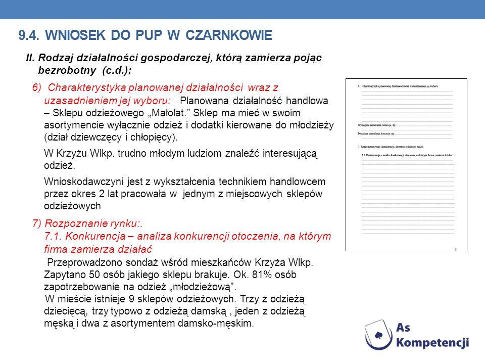 9.4. wniosek do pup w Czarnkowie