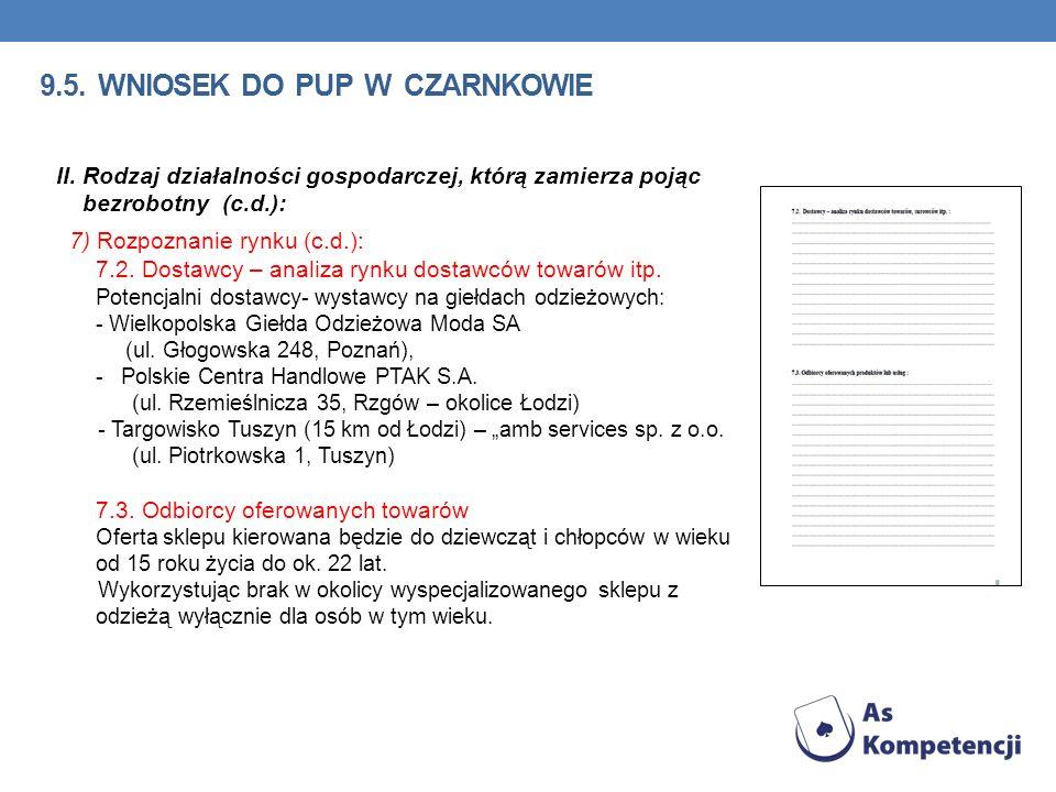 9.5. wniosek do pup w Czarnkowie