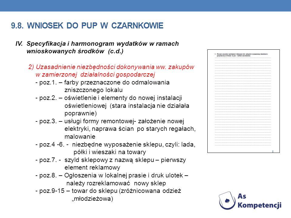 9.8. wniosek do pup w Czarnkowie