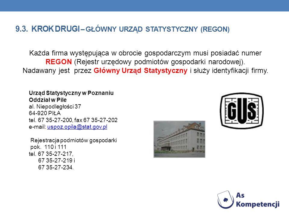 9.3. krok Drugi – Główny urząd statystyczny (REGON)