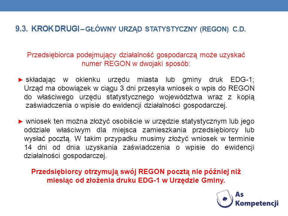 9.3. krok Drugi – Główny urząd statystyczny (REGON) c.d.