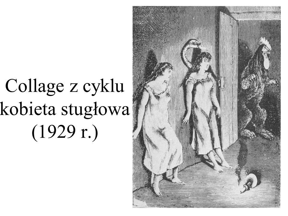 Collage z cyklu kobieta stugłowa (1929 r.)