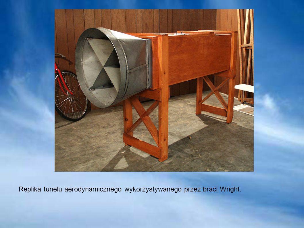 Replika tunelu aerodynamicznego wykorzystywanego przez braci Wright.