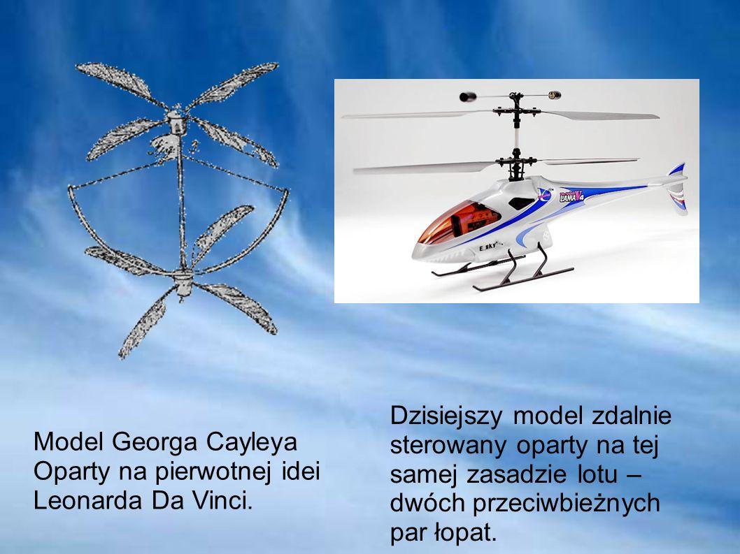 Dzisiejszy model zdalnie sterowany oparty na tej samej zasadzie lotu – dwóch przeciwbieżnych par łopat.