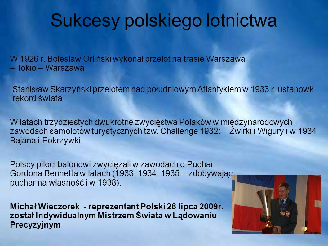 Sukcesy polskiego lotnictwa