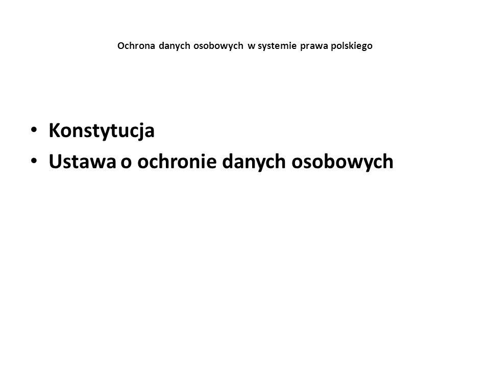 Ochrona danych osobowych w systemie prawa polskiego