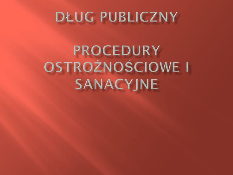 Dług publiczny Procedury ostrożnościowe i sanacyjne