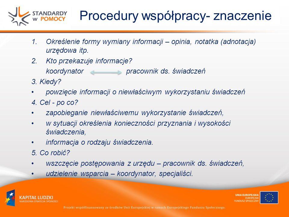 Procedury współpracy- znaczenie