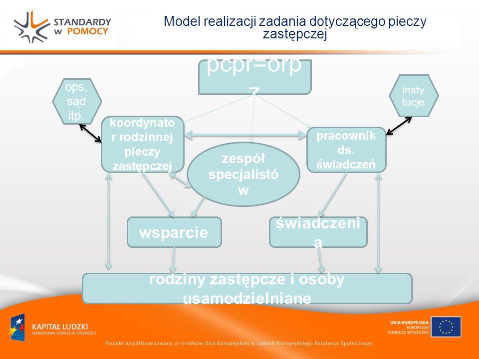 Model realizacji zadania dotyczącego pieczy zastępczej