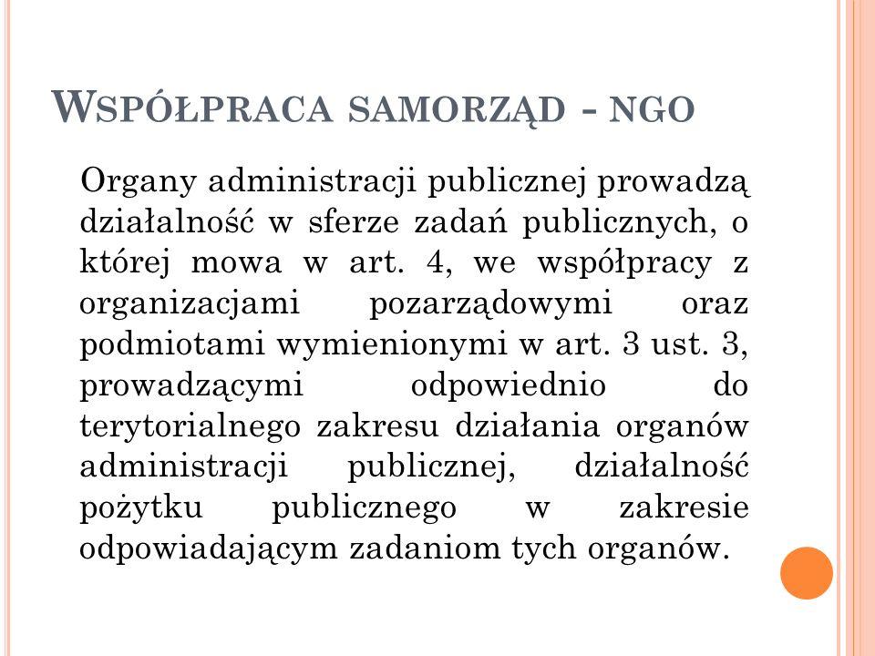 Współpraca samorząd - ngo