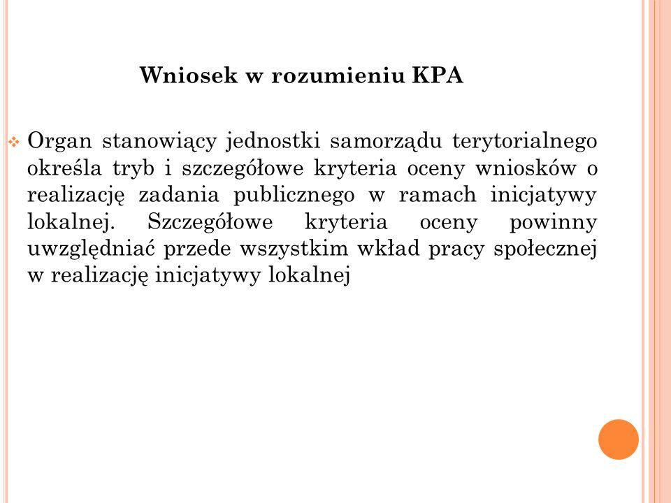 Wniosek w rozumieniu KPA