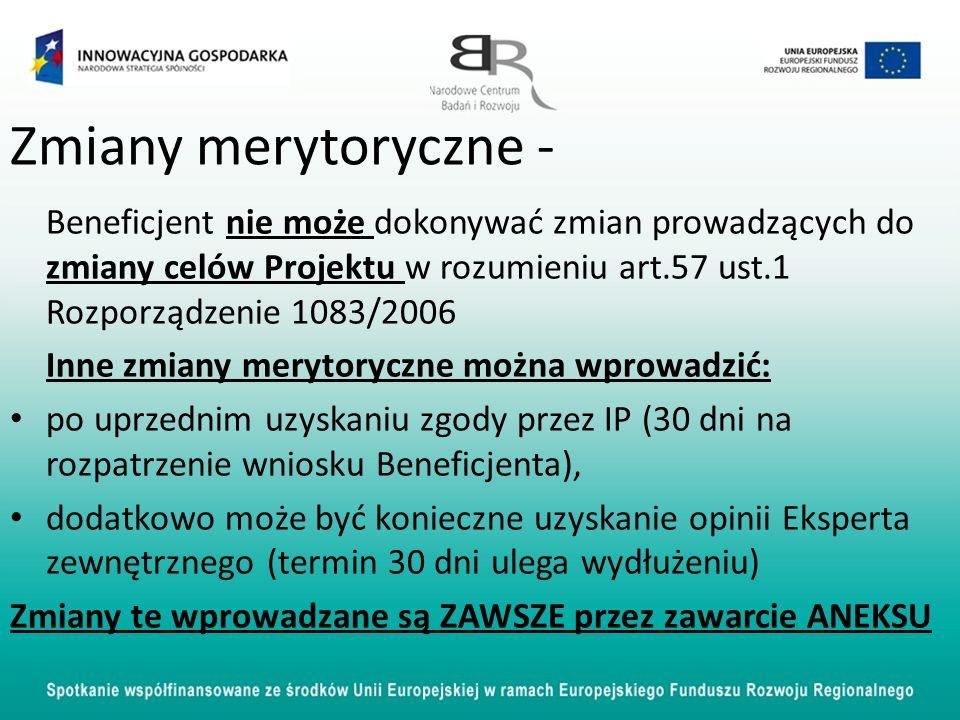 Zmiany merytoryczne - Inne zmiany merytoryczne można wprowadzić: