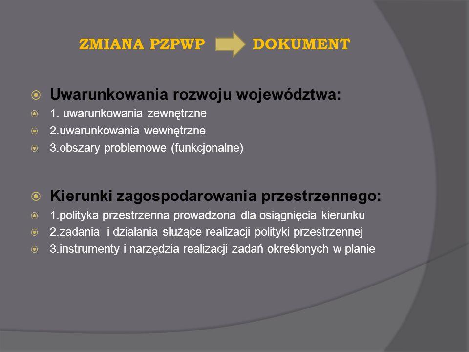 Uwarunkowania rozwoju województwa:
