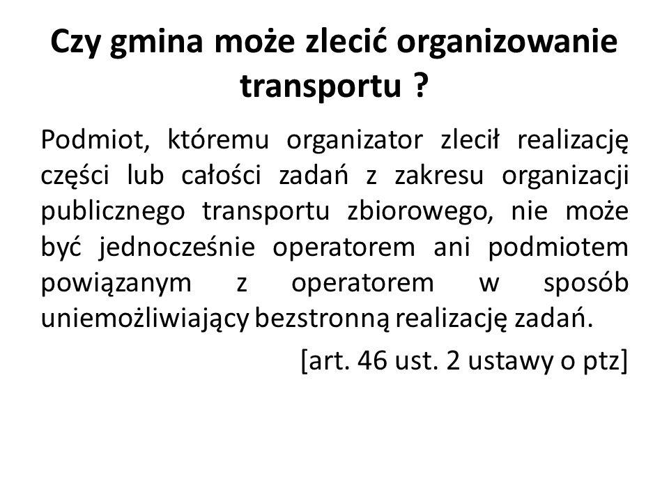 Czy gmina może zlecić organizowanie transportu