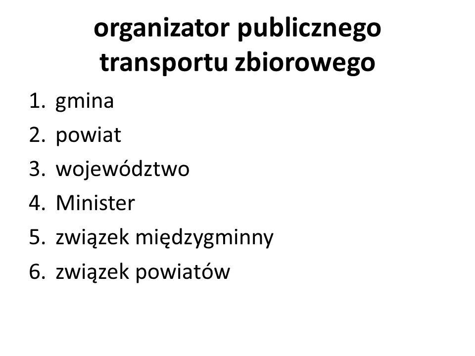 organizator publicznego transportu zbiorowego