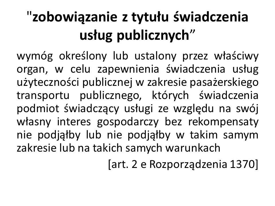 zobowiązanie z tytułu świadczenia usług publicznych