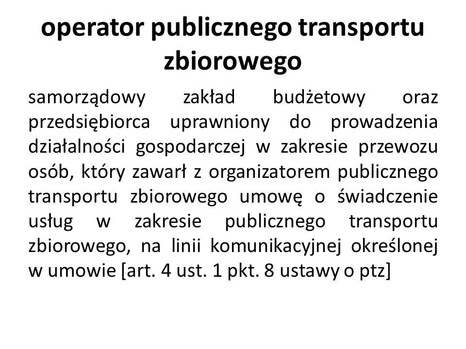 operator publicznego transportu zbiorowego