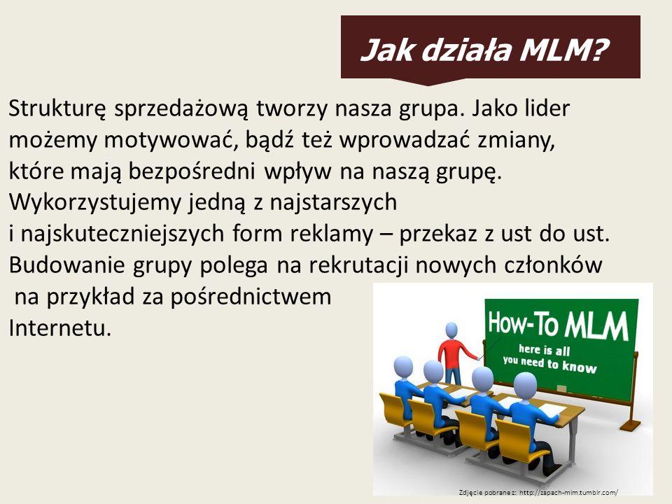 Jak działa MLM Strukturę sprzedażową tworzy nasza grupa. Jako lider
