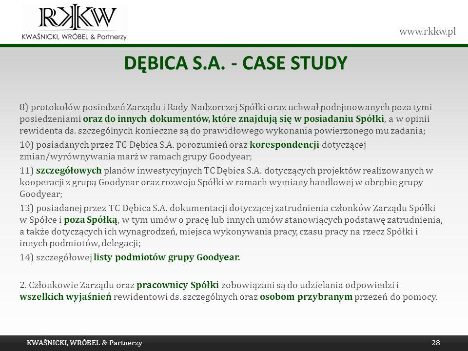 Dębica s.a. - Case study