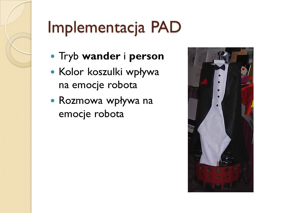 Implementacja PAD Tryb wander i person