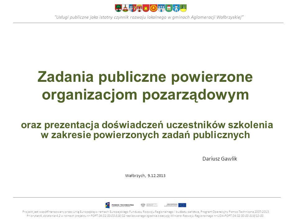 Zadania publiczne powierzone organizacjom pozarządowym