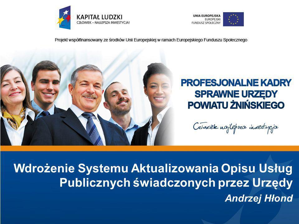 Wdrożenie Systemu Aktualizowania Opisu Usług Publicznych świadczonych przez Urzędy