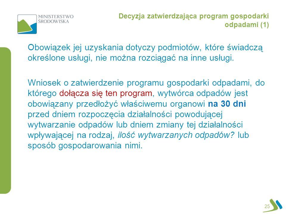 Decyzja zatwierdzająca program gospodarki odpadami (1)