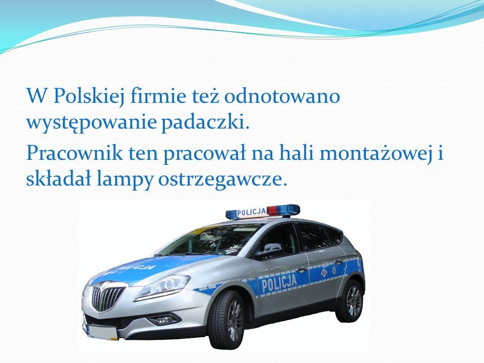 W Polskiej firmie też odnotowano występowanie padaczki