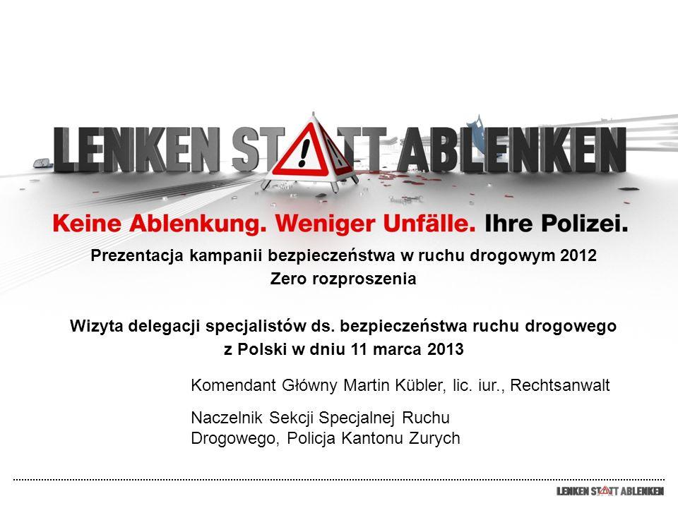 Prezentacja kampanii bezpieczeństwa w ruchu drogowym 2012 Zero rozproszenia Wizyta delegacji specjalistów ds. bezpieczeństwa ruchu drogowego z Polski w dniu 11 marca 2013