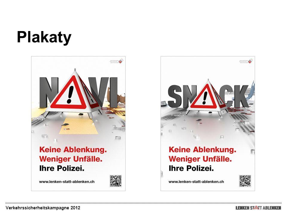 Plakaty Verkehrssicherheitskampagne 2012