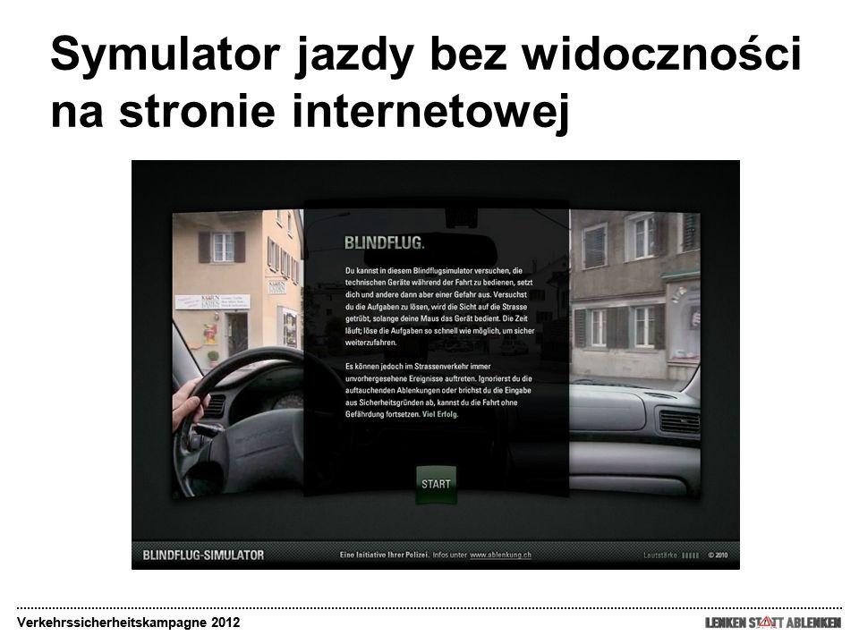 Symulator jazdy bez widoczności na stronie internetowej