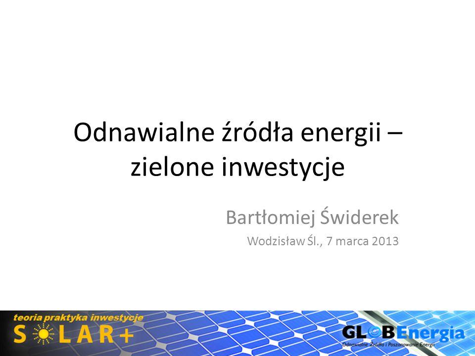 Odnawialne źródła energii – zielone inwestycje