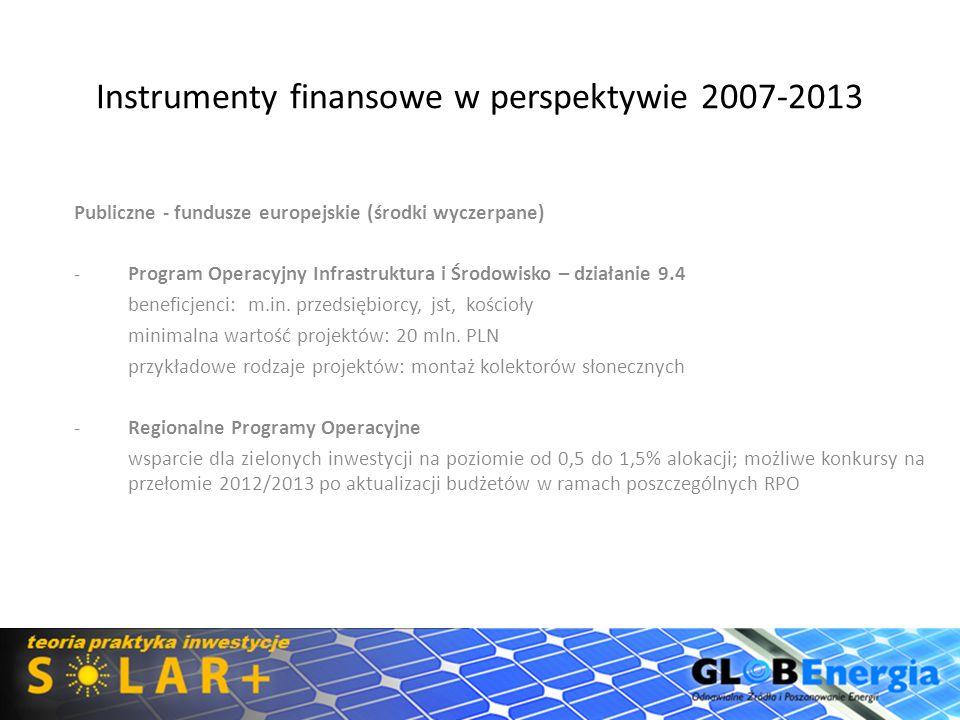 Instrumenty finansowe w perspektywie 2007-2013